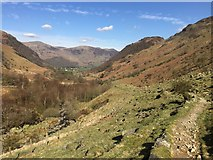 NY2712 : Footpath above Greenup Gill by John Allan