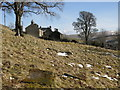 NY8540 : Graves in the old graveyard above Copthill Quarry (2) by Mike Quinn
