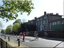 TQ4077 : London Marathon - taking advantage by Stephen Craven