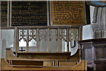 SS6744 : Parracombe, St. Petrock's Church: The Word of Reformation surmounting the medieval screen by Michael Garlick