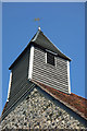 TQ7186 : Weatherboarded bell turret, All Saints Church, Vange by Julian Osley