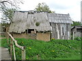 SE6452 : Contrasting building materials at the Viking village, Murton by Christine Johnstone