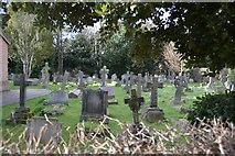 TQ2166 : Churchyard, Church of St John by N Chadwick
