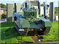 J4187 : Churchill Tank and War Memorial, Carrickfergus Marine Gardens by David Dixon