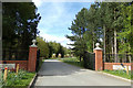 TM2241 : Entrance to Seven Hills Crematorium by Adrian Cable