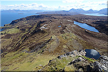 NG5739 : Looking south from Dùn Caan by Anne Burgess