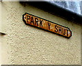 SM9536 : Rusty Park y Shut name sign, Fishguard by Jaggery