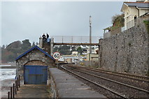 SX9676 : Footbridge over the railway line by N Chadwick