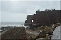 SX9778 : Natural arch, Langstone Rock by N Chadwick