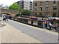 "TQ3283 : ""Quest"" narrowboat by Wharf Road bridge by David Hawgood"