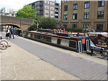 "TQ3283 : ""Quest"" narrowboat by Wharf Road bridge by David Hawgood"