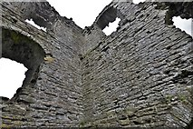 SO2980 : Clun Castle remains: Great Tower detail 3 by Michael Garlick