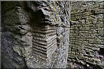 SO2980 : Clun Castle remains: Great Tower detail 4 by Michael Garlick