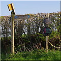 SO0646 : Signs for footpaths and farms by Andrew Hill