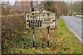 NT9236 : Pre-Worboys sign, B6354 by Ian Capper