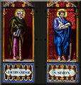 SK9799 : Enamel painted window, St Andrew's church, Redbourne by Julian P Guffogg