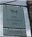SO8401 : Amberley Inn name sign, Amberley by Jaggery