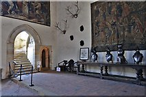 TQ5243 : Penshurst Place, Baron's Hall: Armour on display by Michael Garlick