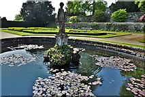 TQ5243 : Penshurst Place: Statue of a young Hercules in the Italian Garden by Michael Garlick