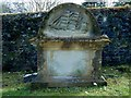 NS2676 : Gravestone with carved ship by Lairich Rig
