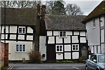 SO3958 : Pembridge, East Street: An attractive terrace of half timbered cottages by Michael Garlick