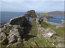 NG4074 : Ruin of Duntulm Castle and Tulm Island by Alpin Stewart