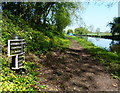 SJ8318 : Shropshire Union Canal milepost at Chamberlain's Covert by Mat Fascione