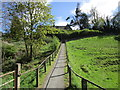 NZ0415 : Footpath to The Lendings by Jonathan Thacker