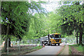 SP8809 : A Lorry with material for the New Car Park in Wendover Woods by Chris Reynolds