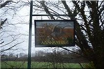 TR2254 : Adisham Village sign by N Chadwick