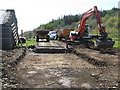 NR6690 : New cattle grid construction at Lealt by M J Richardson