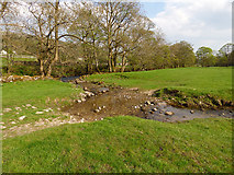 SD9771 : Footpath fording a small stream by Stephen Craven