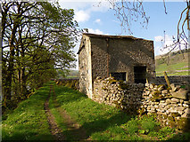SD9771 : Laithe near the river Wharfe by Stephen Craven