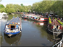 TQ2681 : Red Watch, narrowboat, Little Venice Canalway Cavalcade by David Hawgood