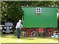 TF1606 : Wooden caravan, Peakirk by Paul Bryan
