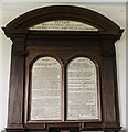 TF1173 : Embroidered Commandment Boards, Stainfield church by Julian P Guffogg