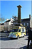 SC2667 : Manxices cream van in Castletown Square by Richard Hoare