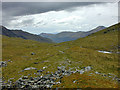 NN1052 : Looking west along the Bealach Easan by Nigel Brown