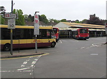 ST1586 : Entrance to Caerphilly bus station by Jaggery
