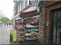 TQ2688 : Greengrocery on Market Place, Hampstead Garden Suburb by David Howard