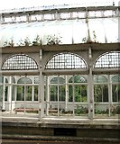 TG2407 : Grade 2 listed Boulton and Paul conservatory (detail) by Evelyn Simak