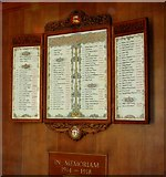 TG2407 : WW1 Memorial of Carrow Works in Carrow House by Evelyn Simak