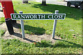 TG4803 : Ranworth Close sign by Adrian Cable