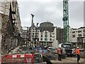 TQ2779 : Construction site on Brompton Road, Knightbridge by Richard Humphrey