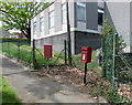 ST1796 : Queen Elizabeth II postbox and a red Royal Mail drop box, Gordon Road, Blackwood by Jaggery