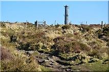 SX3771 : Summit chimney, Kit Hill by N Chadwick