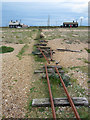 TR0917 : Remains of a former fishing railway track at Dungeness : Week 20