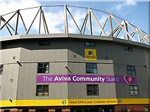 TG2407 : Carrow Road football stadium - the Aviva Community Stand by Evelyn Simak