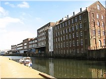 TG2407 : The Carrow Works river frontage by Evelyn Simak
