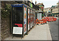 SX9163 : Temporary bus stop, Fleet Street, Torquay by Derek Harper